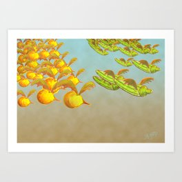 Figs can fly Art Print