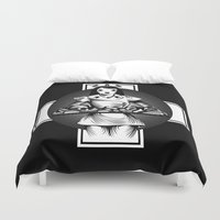 nurse Duvet Covers featuring Nurse by Trine Paulsen