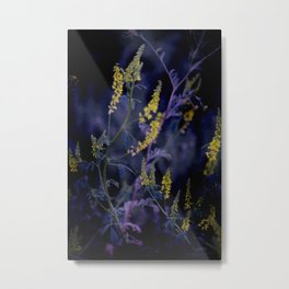 purple and yellow Metal Print