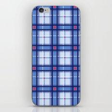 Blue Plaid iPhone & iPod Skin