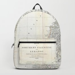 Old 1856 Historic Northern Palestine Map Backpack
