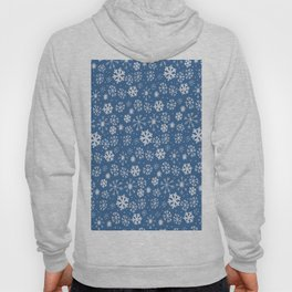 Snowflake Snowstorm With Sky Blue Background Hoody