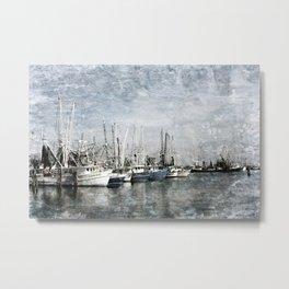 Shrimp Boats at the Pass Harbor Metal Print