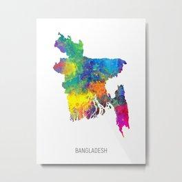 Bangladesh Watercolor Map Metal Print