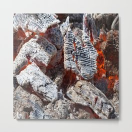 Wooden hot ashes pattern Metal Print