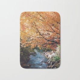 Fall Leaves on Autumn Trees - 35mm film Bath Mat