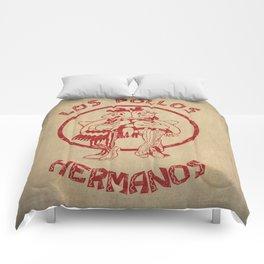 Los Pollos Hermanos vintage ( Breaking Bad ) Comforters