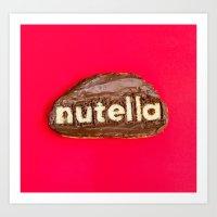 nutella Art Prints featuring Nutella by Dan Cretu