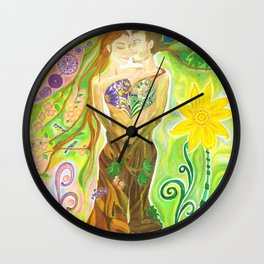 Trees in Love Wall Clock