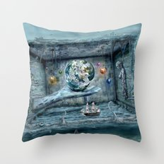 Save our World 20  Throw Pillow