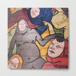 Strange Beings (Mural in Tower District Fresno, CA) Metal Print