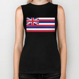 Flag of Hawaii, High Quality image Biker Tank