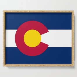 Colorado State Flag Serving Tray