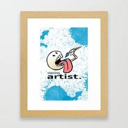 Starving Artist - Paint Eater Framed Art Print
