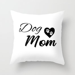Dog Mom Throw Pillow
