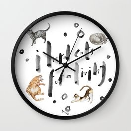 I herd cats for a living Wall Clock