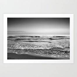 Soft waves. BN Art Print