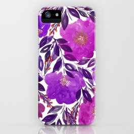 hand painted flowers_3b iPhone Case