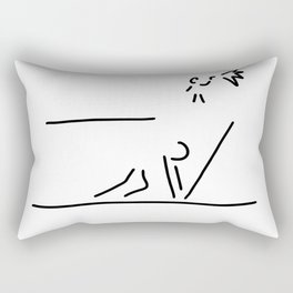 100 metre sprint athletics start Rectangular Pillow