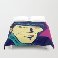 spock Duvet Covers featuring Spock Logic by Vee Ladwa