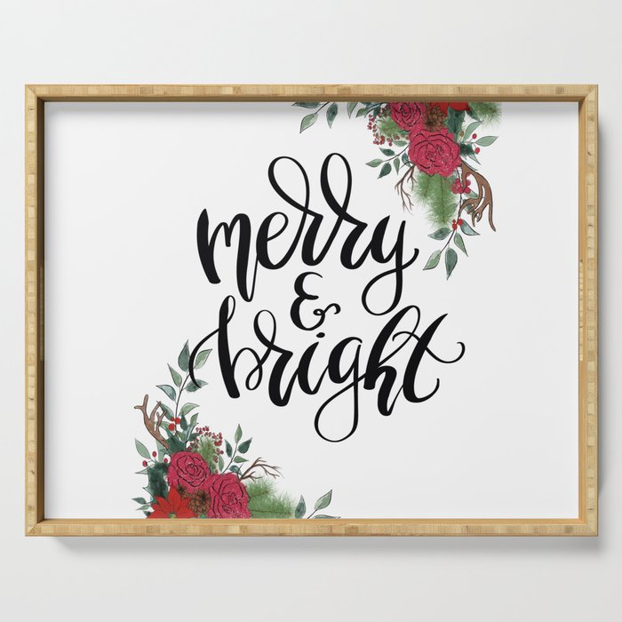 Merry And Bright Serving Tray