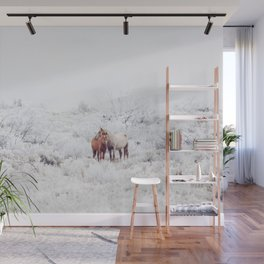 Two Winter Horses Wall Mural