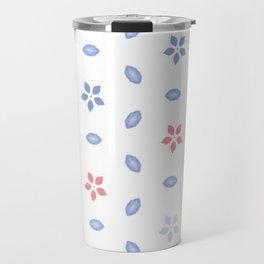 Pastel color Multi pattern design Travel Mug