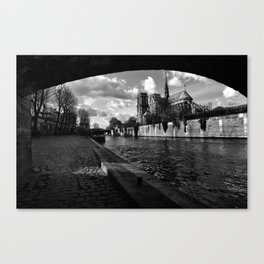 Parisian walk Canvas Print