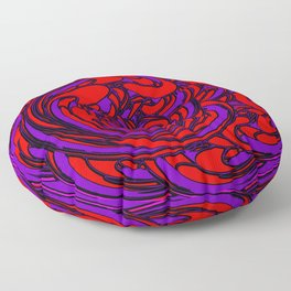 The Lava and The Waves Floor Pillow