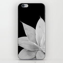 Gray Agave on Black #2 #tropical #decor #art #society6 iPhone Skin
