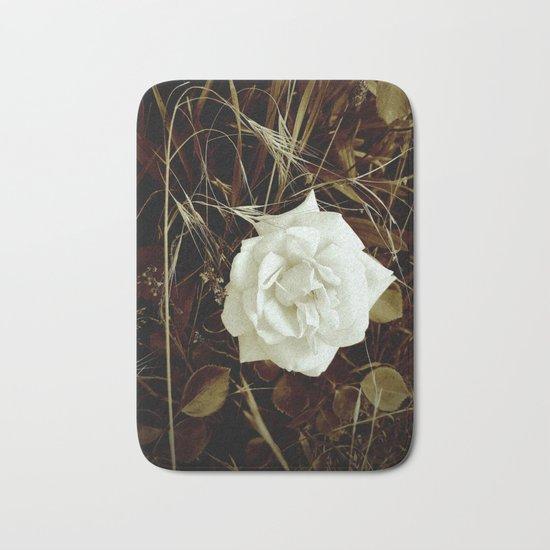 Vintage Rose And Wild Grasses Bath Mat