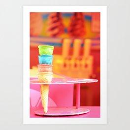 Maastricht Ice Cones Art Print
