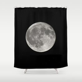 Full Moon. Today Shower Curtain