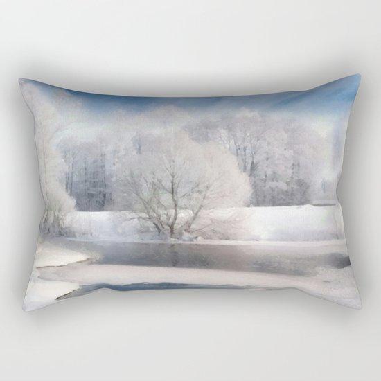 White silence Rectangular Pillow