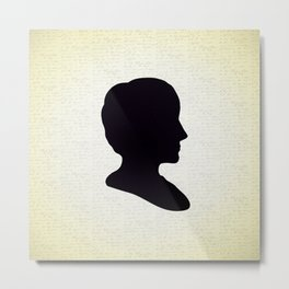 Ada Lovelace Silhouette  Metal Print