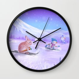 You Can Do It Bunny! Wall Clock