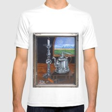 Study of Peweter 2005 MEDIUM White Mens Fitted Tee