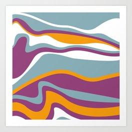 Pesto Blue, purple and orange Art Print