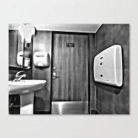 bathroom Canvas Prints featuring bathroom by artinn