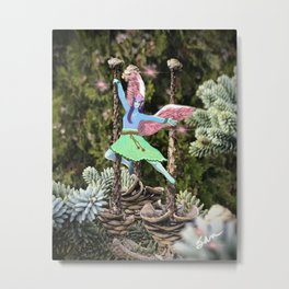 Blue Fairy Dancer Metal Print