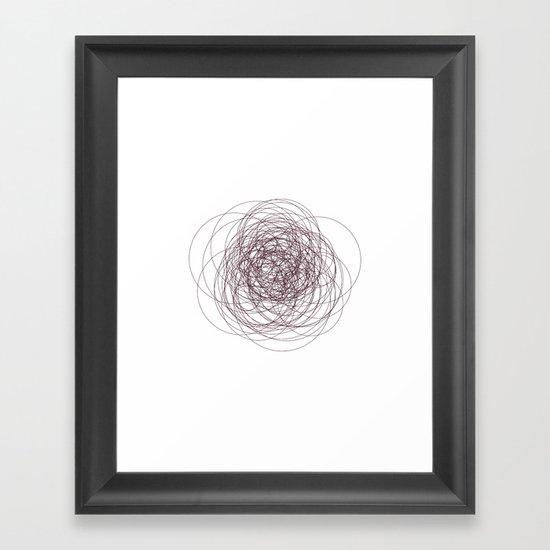 #280 Nervous – Geometry Daily Framed Art Print