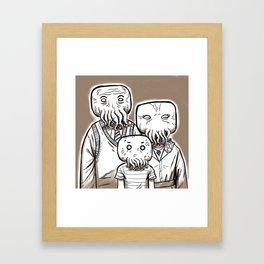 C'thulu Family Portrait Framed Art Print