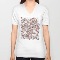 waldo V-neck T-shirts featuring La Fiesta by Walmazan