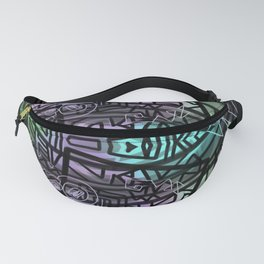 Tribal Fish drawing Fanny Pack