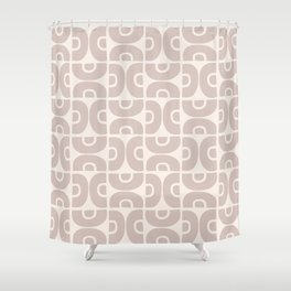 Groovy Mid Century Modern Pattern 731 Beige Shower Curtain