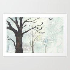 Birds of Winter Art Print