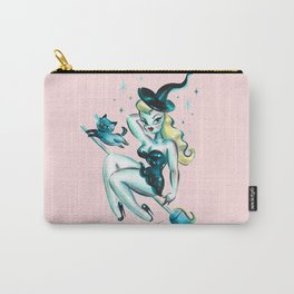 Blonde Witch with Kitty Carry-All Pouch