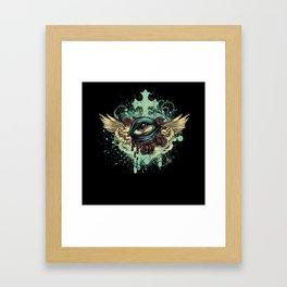 Grunge Eye Framed Art Print