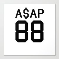 asap rocky Canvas Prints featuring ASAP by Isabelle