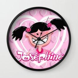 Josephine Pink Hearts 2 Wall Clock